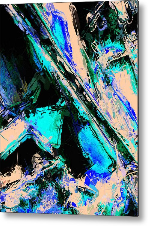 Abstract Metal Print featuring the photograph Momentary Pauses. by Clayton Odom