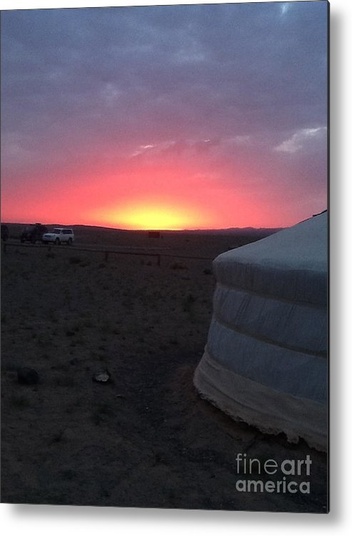 Mongolia Metal Print featuring the photograph Mongolia Sunup by Michelle Hynes