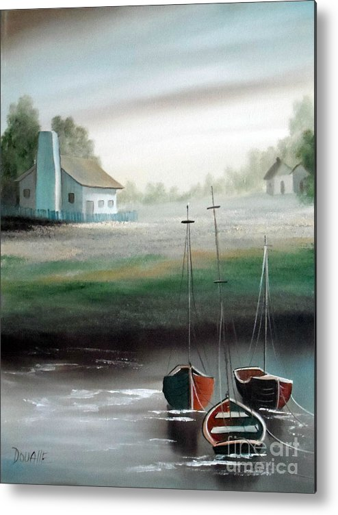 Boat Metal Print featuring the painting Morning Sail by Amede Doualle