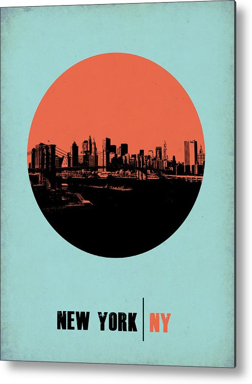 New York Metal Print featuring the photograph New York Circle Poster 2 by Naxart Studio