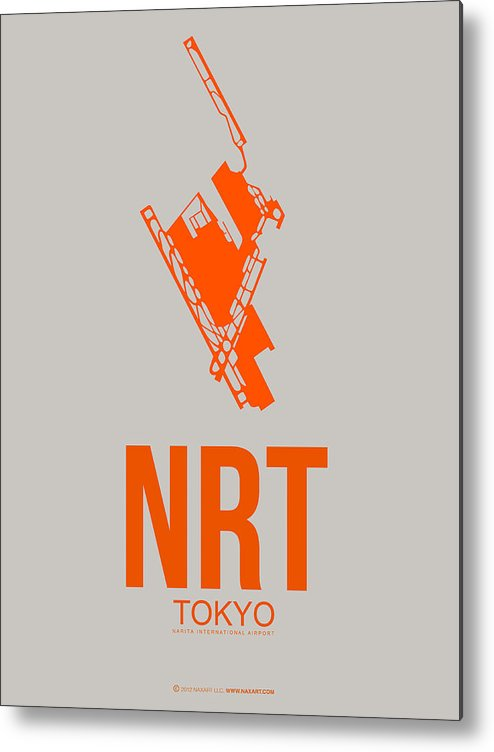 Metal Print featuring the digital art Nrt Tokyo Airport 1 by Naxart Studio