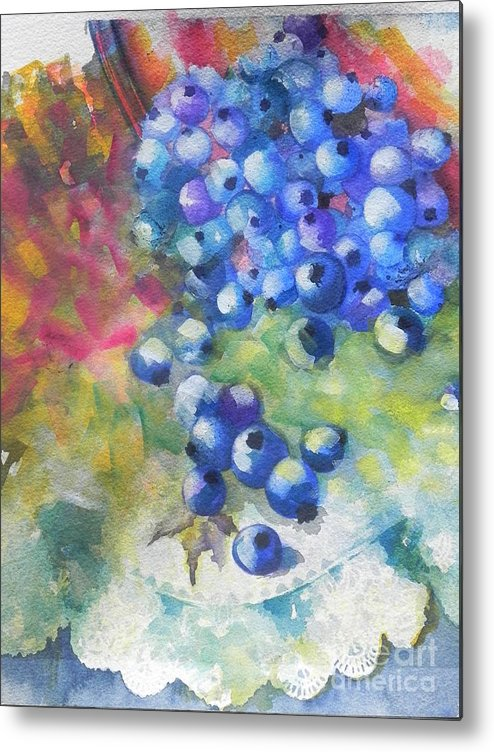 Watercolors Metal Print featuring the painting Old Fashion by Chrisann Ellis