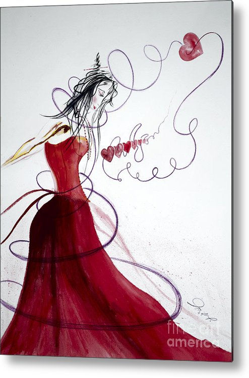 Dance Metal Print featuring the painting Old Love by Jalal Gilani
