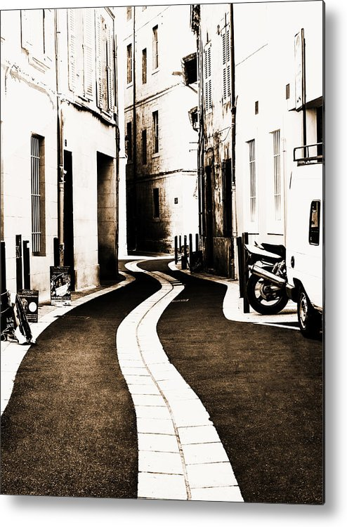 Urban Metal Print featuring the photograph Old Town Streams by Yevgeni Kacnelson