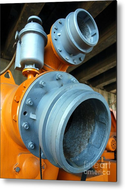 Equipment Metal Print featuring the photograph Old Wastewater Equipment by Yali Shi