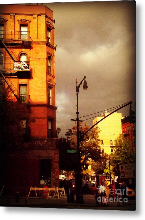 New York New York City Metal Print featuring the photograph On The Boulevard by Miriam Danar