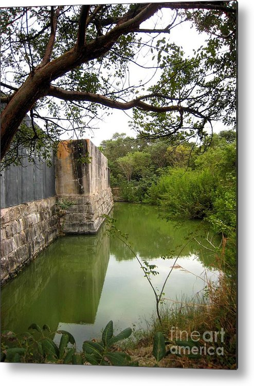 Water Metal Print featuring the photograph Peaceful Pond by Claudette Bujold-Poirier