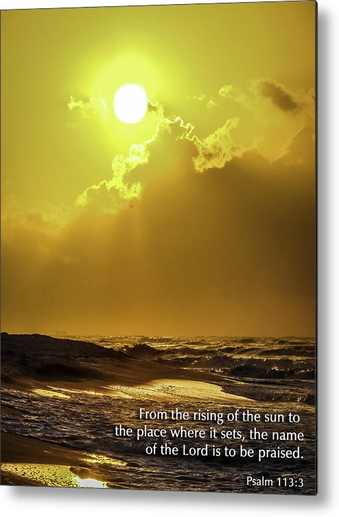 Sunrise Metal Print featuring the photograph Praise by CarolLMiller Photography