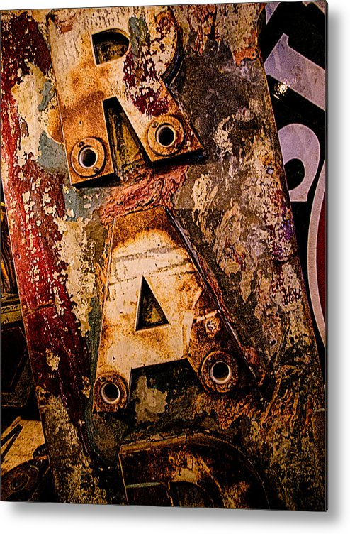 Radio Metal Print featuring the photograph Radio Sign 2 by Jim Pruett