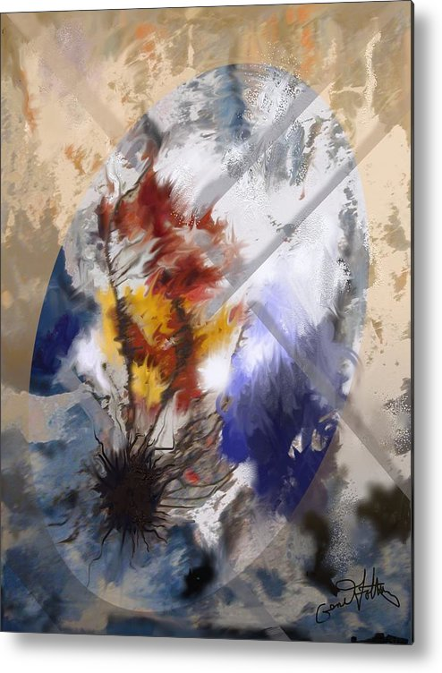 Abstract Metal Print featuring the painting Raging_tempest by Eugene Foltuz