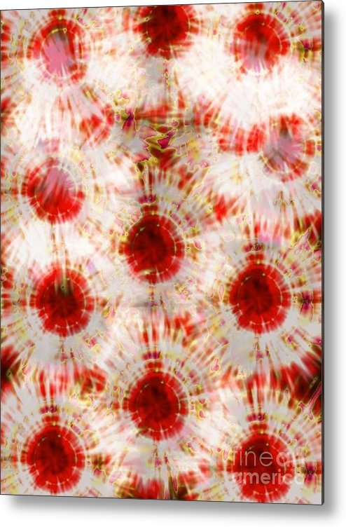 Red Rubies  Metal Print featuring the digital art Red Rubies by Gayle Price Thomas