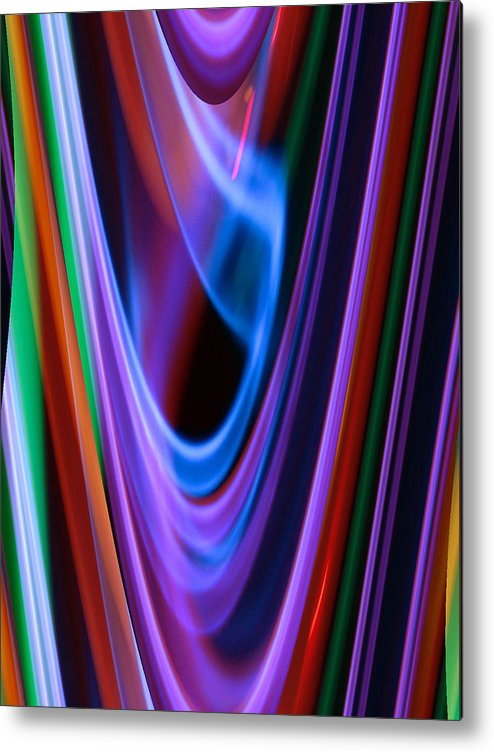 Neon Metal Print featuring the photograph Rings Of Saturn by Gail Sheley - Davenport