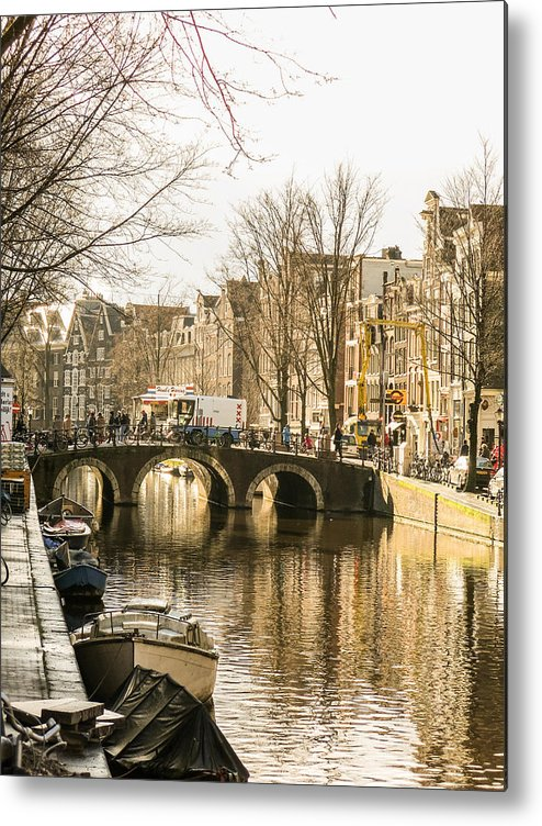 Canal Metal Print featuring the photograph Roads Of Amsterdam by Tino Lopes