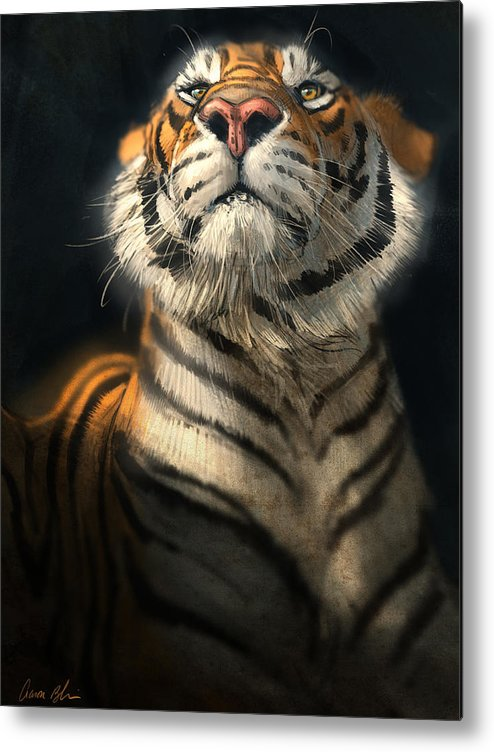 Tiger Metal Print featuring the digital art Royalty by Aaron Blaise