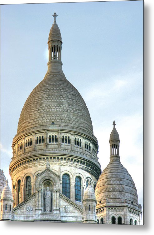 Church Metal Print featuring the photograph Sacre Coeur by Douglas J Fisher