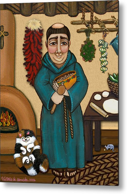 San Pascual Metal Print featuring the painting San Pascual by Victoria De Almeida