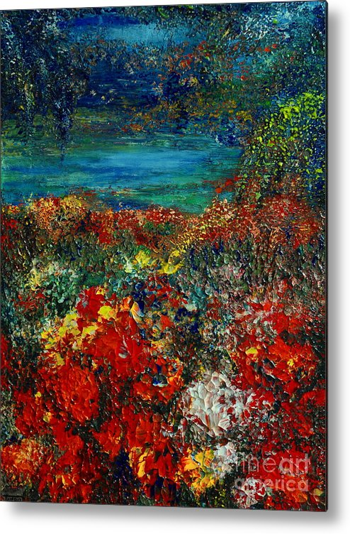 Garden Metal Print featuring the painting Secret Garden by Teresa Wegrzyn