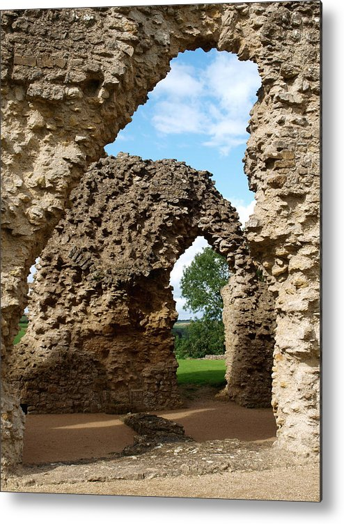 Sherborne Old Castle Metal Print featuring the photograph Sherborne Arches by Michaela Perryman