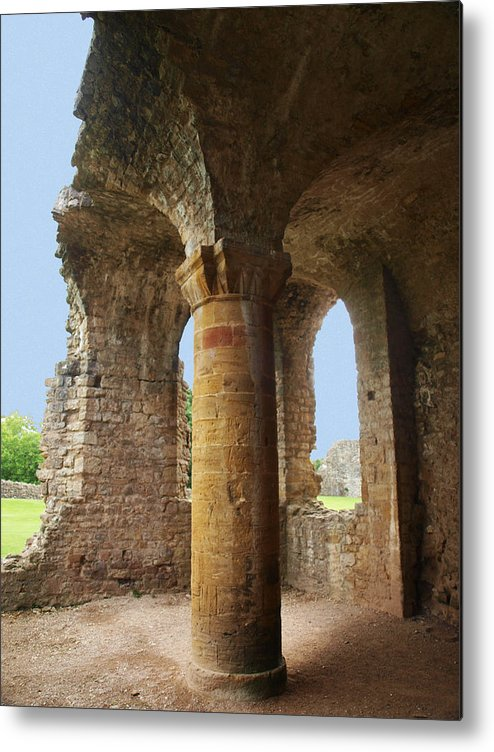 Sherborne Old Castle Metal Print featuring the photograph Sherborne Old Castle 7 by Michaela Perryman