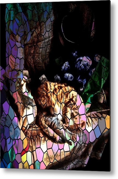 Metal Print featuring the photograph Stain Glass Motif by Kilmeny Boates