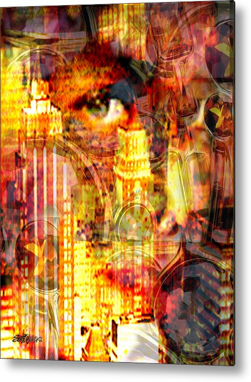 Big City Metal Print featuring the photograph Streetwalker by Seth Weaver