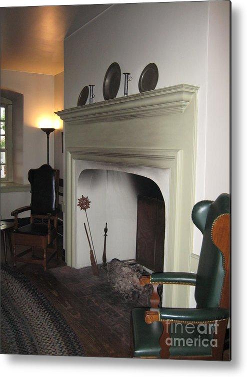 Historical Metal Print featuring the photograph Sun Inn Fireplace by Susan Carella