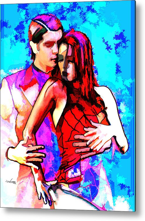 Tango Argentino Metal Print featuring the mixed media Tango Argentino - Love And Passion by Reno Graf von Buckenberg