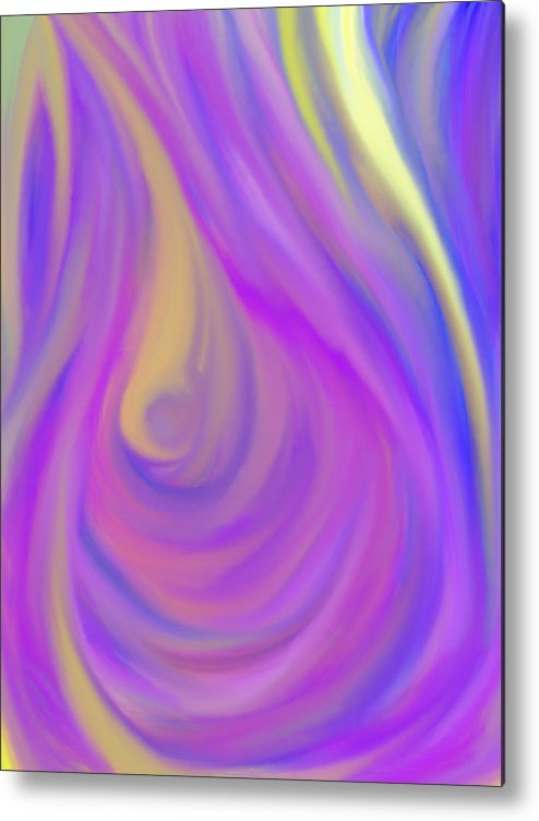 Daina Metal Print featuring the painting The Light Of The Feminine Ray by Daina White