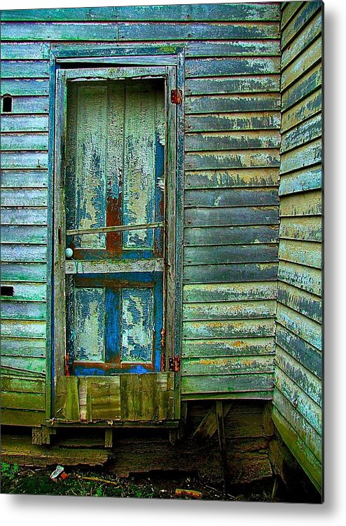 Old Doors Metal Print featuring the photograph The Old Blue Door by Julie Dant
