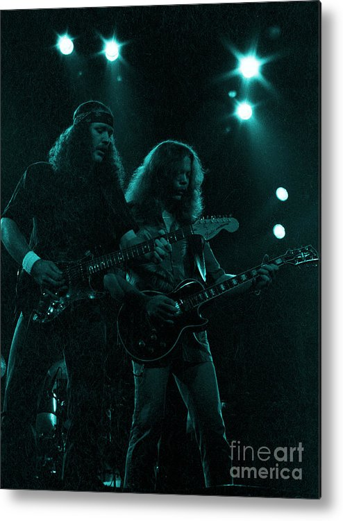 The Outlaws Metal Print featuring the photograph The Outlaws - Hughie Thomasson And Billy Jones-1st Release Special Price by Daniel Larsen