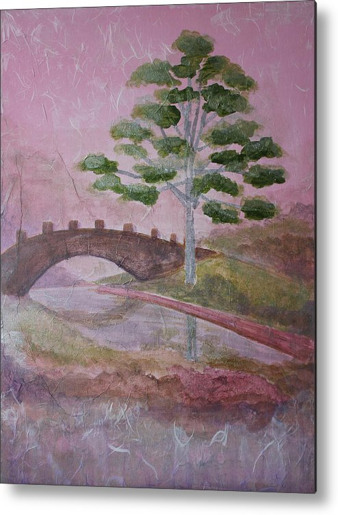Tree Metal Print featuring the painting The Silver Tree by Catherine Sprague