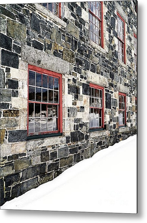 Barn Metal Print featuring the photograph The Stone Mill At The Enfield Shaker Museum by Edward Fielding