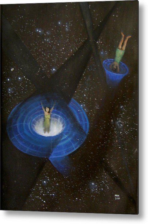Time Metal Print featuring the painting Time Travel by Min Zou