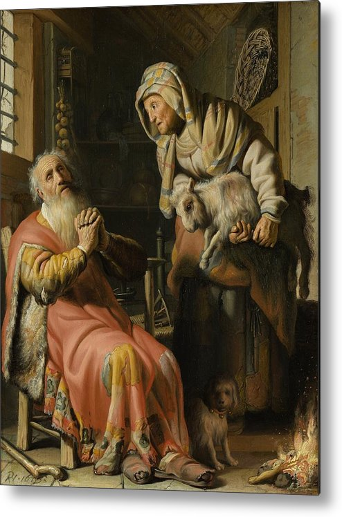 1626 Metal Print featuring the painting Tobit And Anna With The Kid by Rembrandt van Rijn