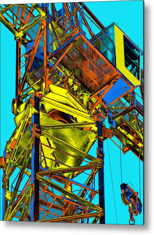 Tower Crane Metal Print featuring the photograph Towering 5 by Wendy J St Christopher