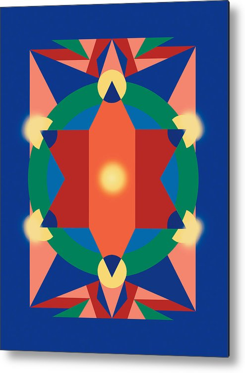 Mandala Metal Print featuring the painting Tradition by Meredith Bernhardt