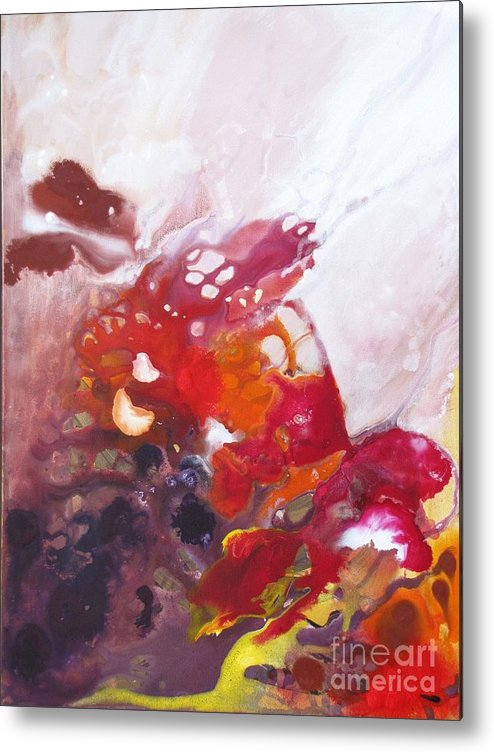 Abstract Metal Print featuring the painting Transitions by  Mira Pawlus