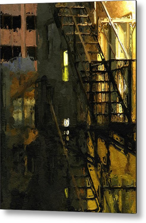 Abstract Metal Print featuring the photograph Urban Nights by Clayton Odom