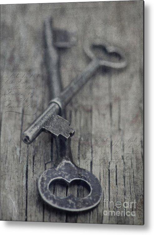 Keys Metal Print featuring the photograph Vintage Keys by Priska Wettstein