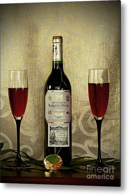 Vintage Wine Lovers Metal Print featuring the photograph Vintage Wine Lovers by Inspired Nature Photography Fine Art Photography