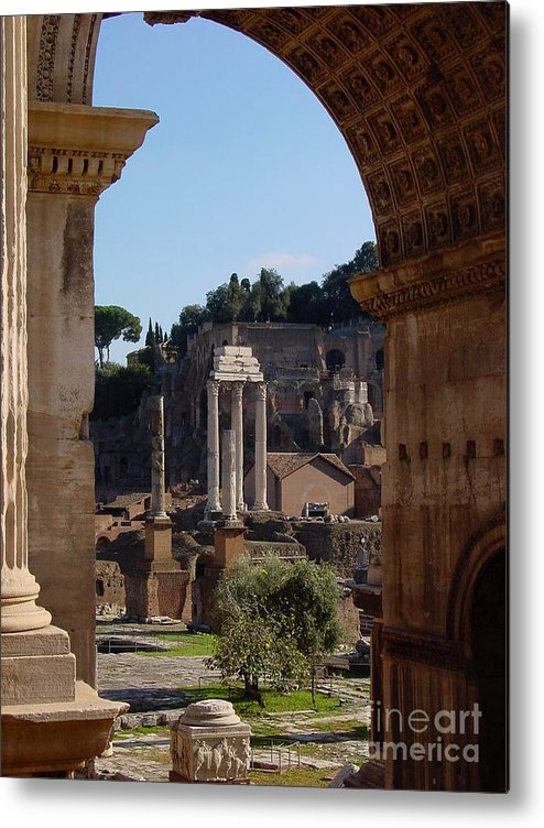 Italy Metal Print featuring the photograph Visions Of Rome by Nancy Bradley