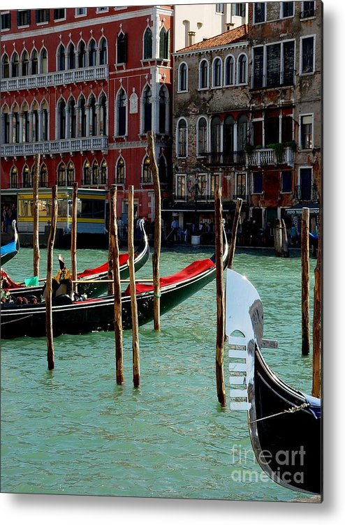 Gondolas Metal Print featuring the photograph Visions Of Venice 4. by Nancy Bradley