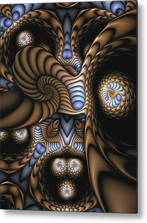Abstract Metal Print featuring the digital art Vitreous Inanity by Casey Kotas