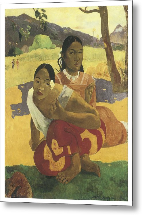 When Will You Marry Me Metal Print By Paul Gauguin