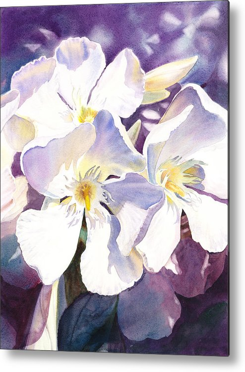 Oleander Metal Print featuring the painting White Oleander by Irina Sztukowski