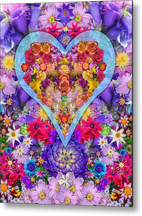 Wild Flower Heart Metal Print featuring the photograph Wild Flower Heart by Alixandra Mullins