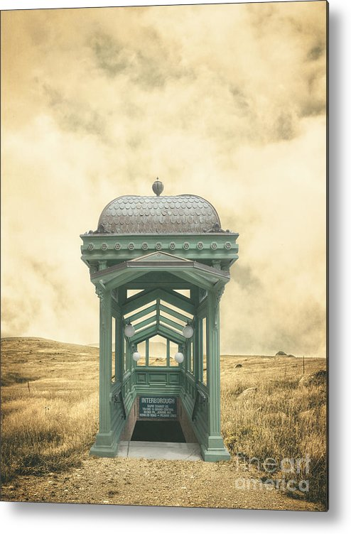Ranch Metal Print featuring the photograph Wrong Train Right Station by Edward Fielding