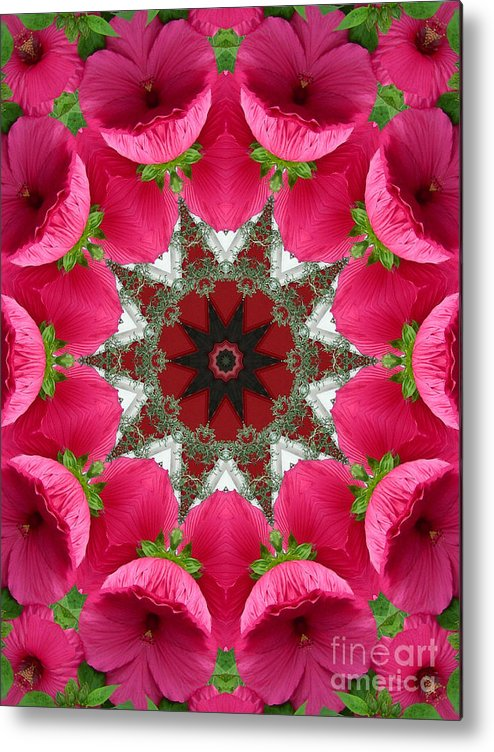 Digital Design Metal Print featuring the photograph Hibiscus by Mark Gilman