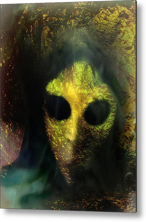 Face Metal Print featuring the photograph Visitor by Shirley Sirois