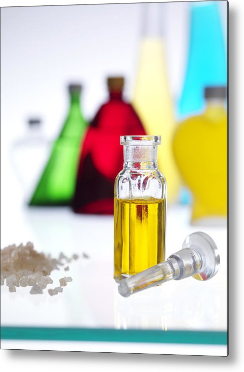 Essential Oil Metal Print featuring the photograph Aromatherapy Oils by Tek Image